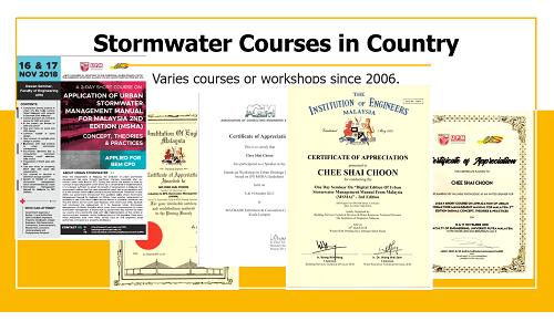 """Stormwater Courses in country"""